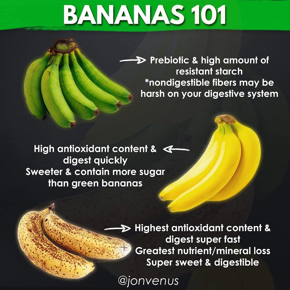 bananas 101, food, nutrition information, prebiotic, resistant starch, antioxidant