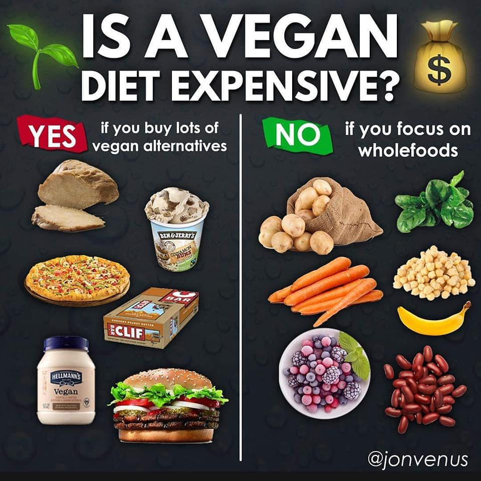 is a vegan diet expensive?, yes if you buy lots of vegan alternatives, no if you focus on wholefoods