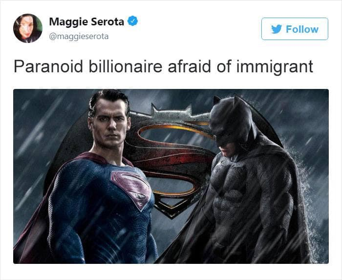 paranoid billionaire afraid of immigrant
