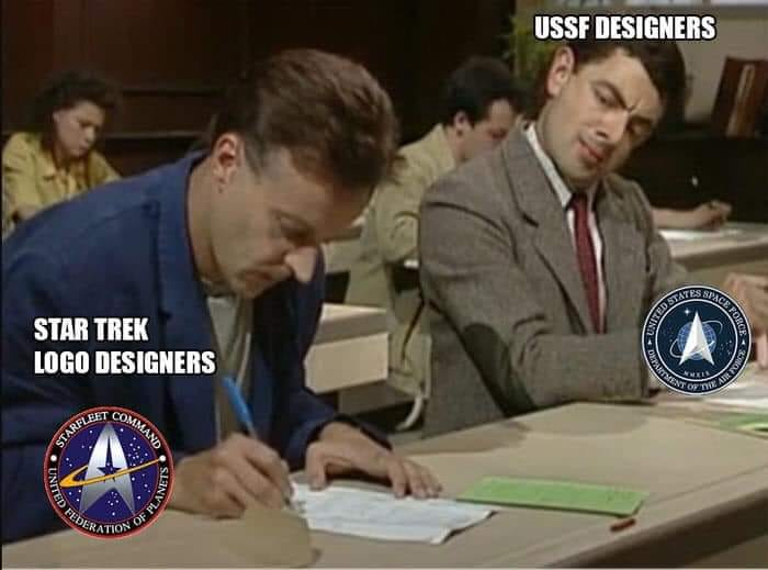 star trek logo designers, ussr designers, mr bean cheating