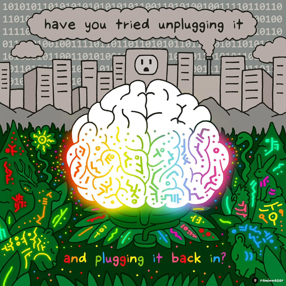 have you tried unplugging it and plugging it back in?