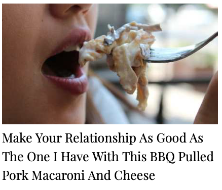 make your relationship as good as the one i have with this bbq pulled pork macaroni and cheese