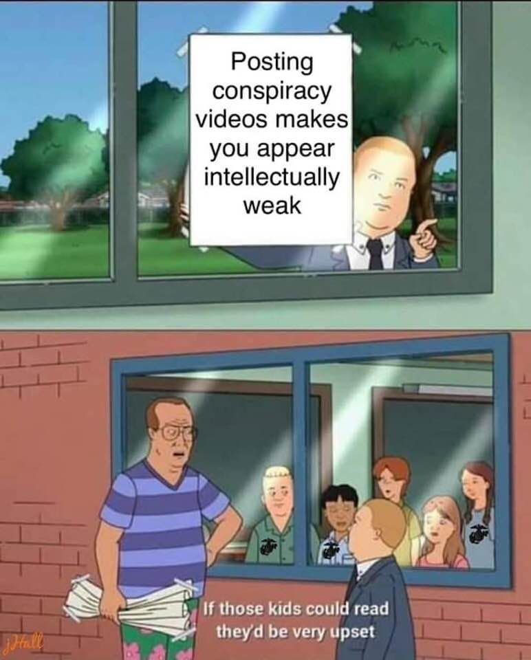 posting conspiracy theories makes you appear intellectually weak, if those kids could read they'd be very upset