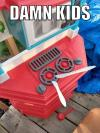 damn kids, hot knives on toy stove