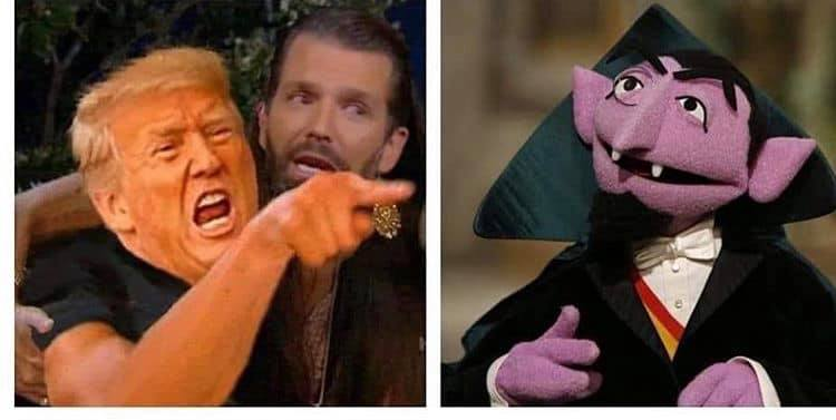 donald trump versus the count, meme