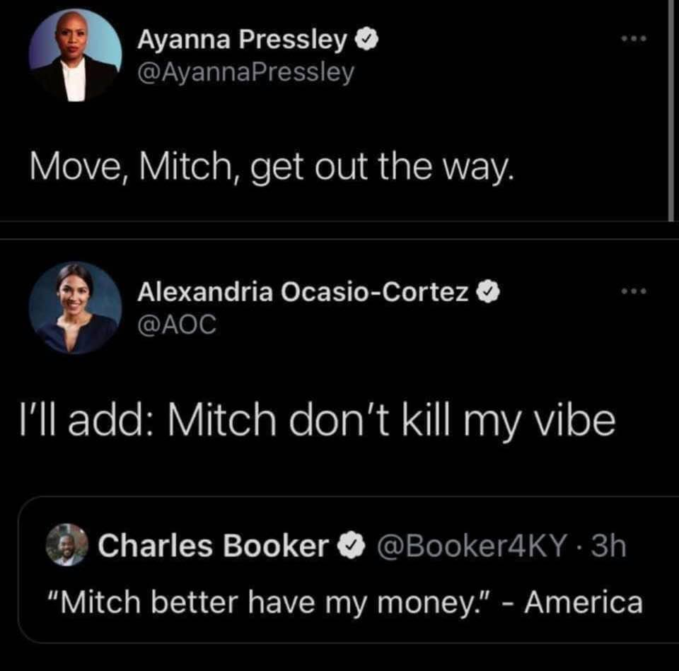 move mitch get out the way, mitch don't kill my vide, mitch better have my money, america