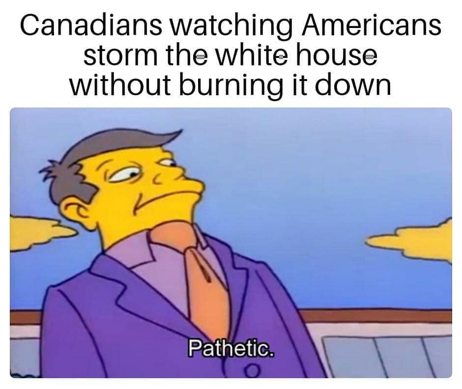 canadians watching americans storm the white house without burning it down